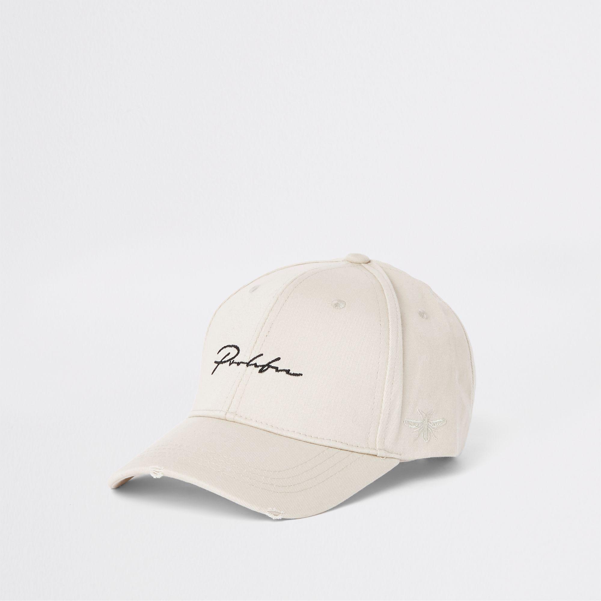 ffc3a066a8e Lyst - River Island Ecru  prolific  Wasp Embroidery Baseball Cap for Men