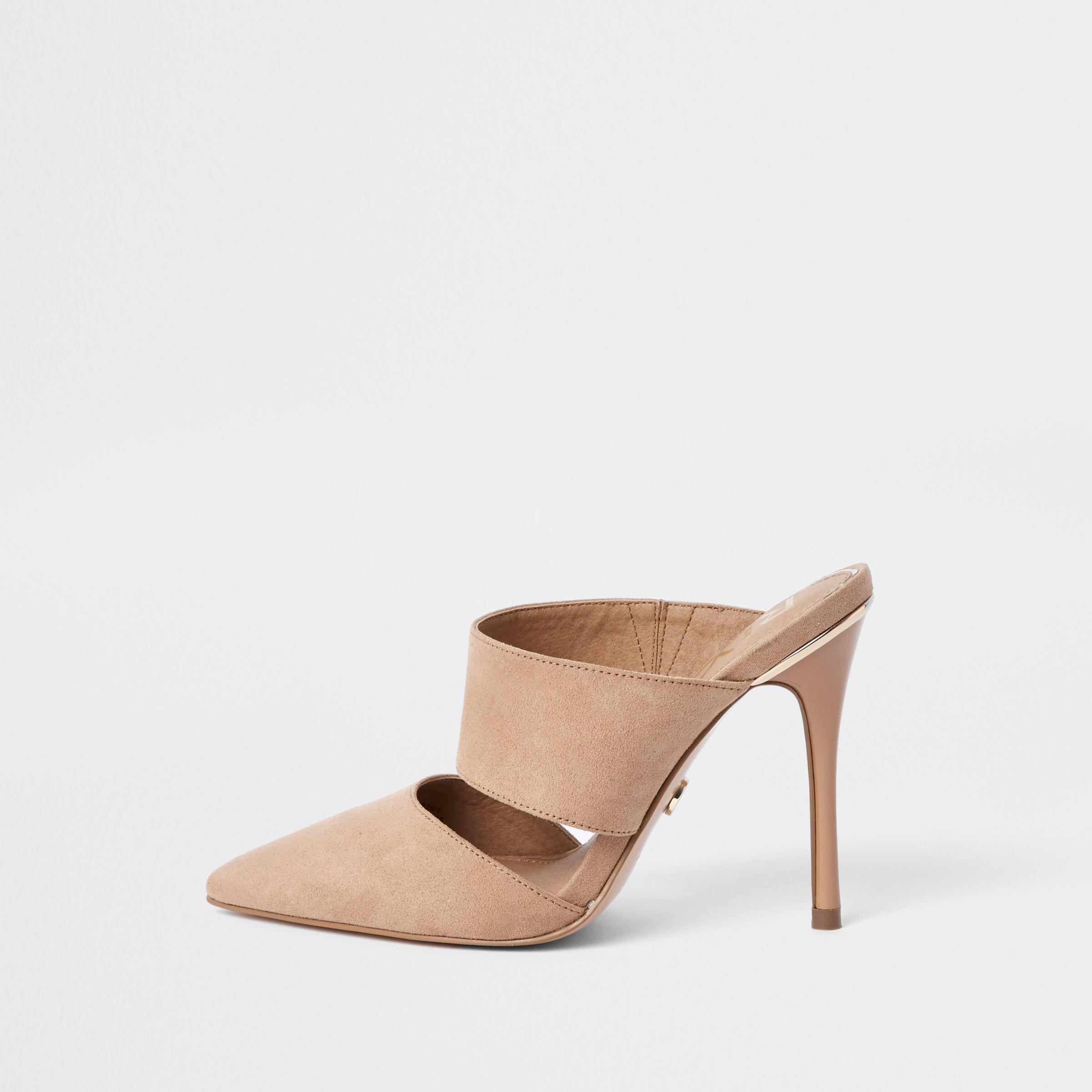 River Island Womens pointed toe stiletto mules