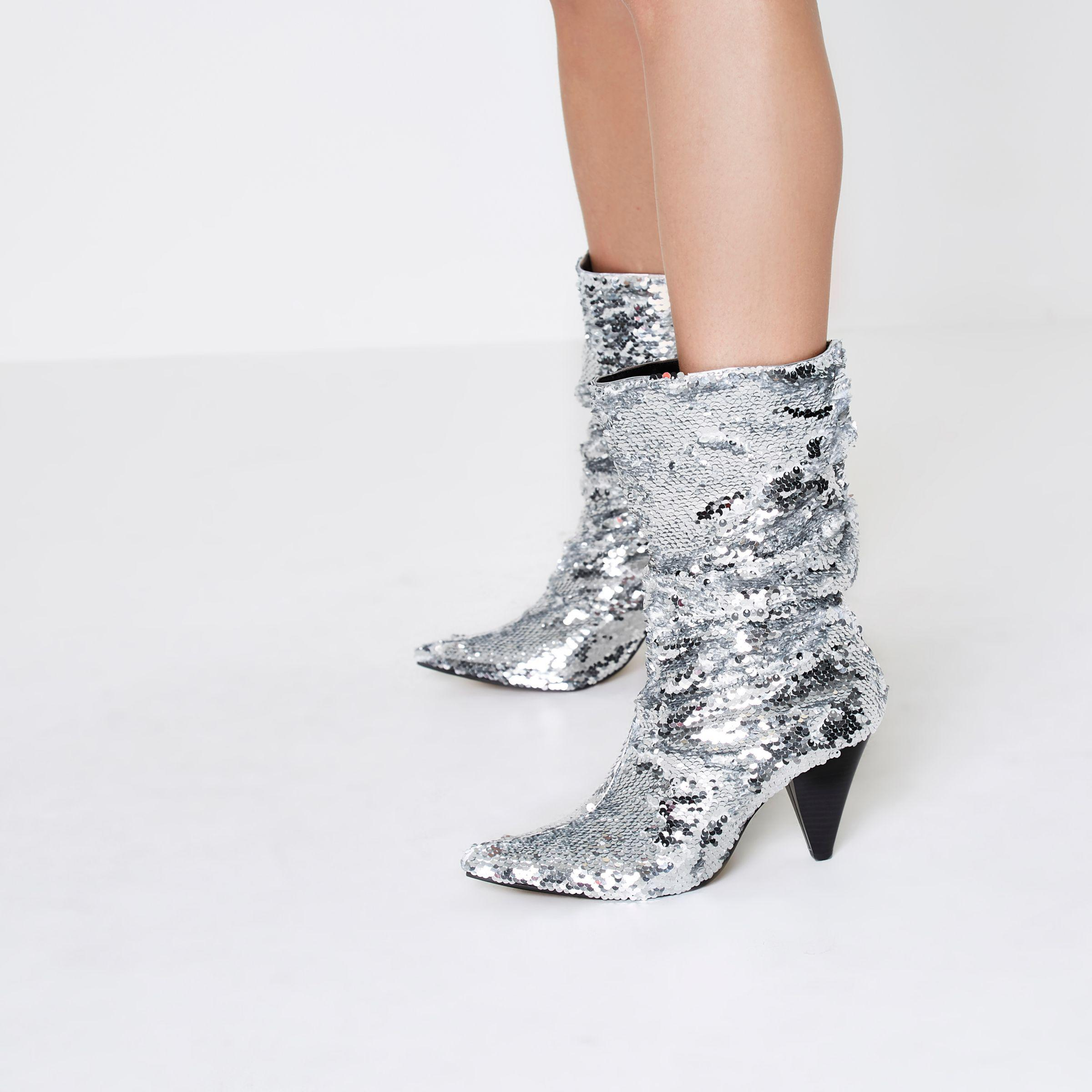 River Island Slouch Sequin Boots cheap sale best wholesale low price fee shipping sale online cheap sale pay with visa footaction sale online online cheap authentic FYgPWg