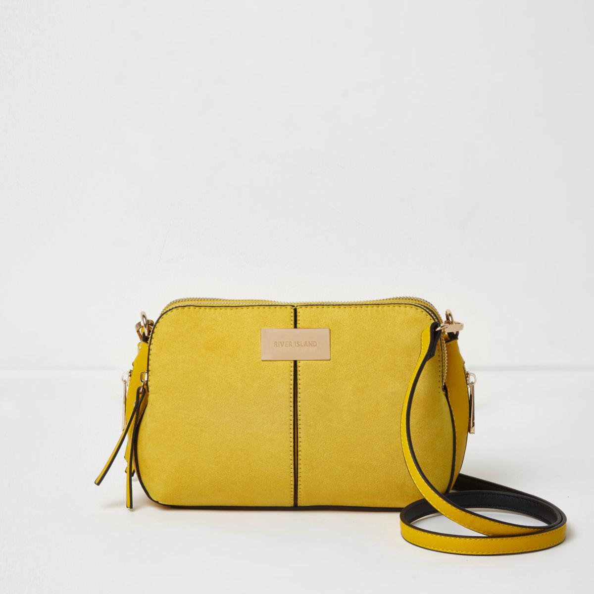 8812bccdc4 River Island Yellow Triple Compartment Cross Body Bag Yellow Triple ...