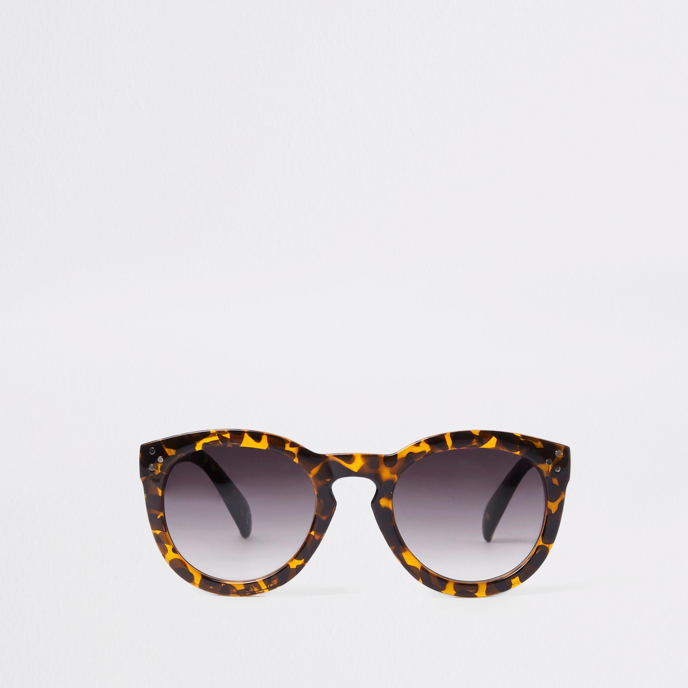 5fb5426b4c9 Lyst - River Island Brown Leopard Print Smoke Lens Sunglasses in Brown