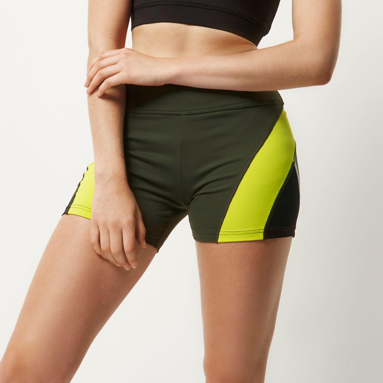 River island Ri Active Khaki Gym Shorts in Black | Lyst
