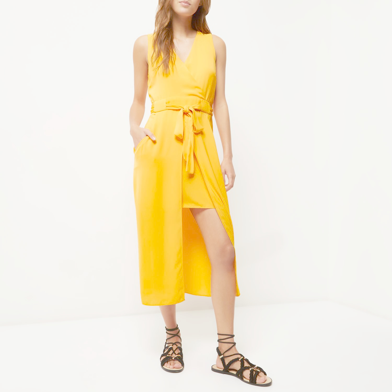 River island long sleeve column midi dress