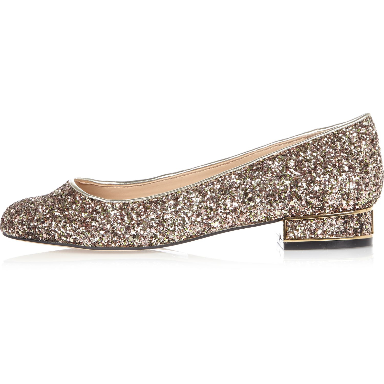 River Island Silver Court Shoes
