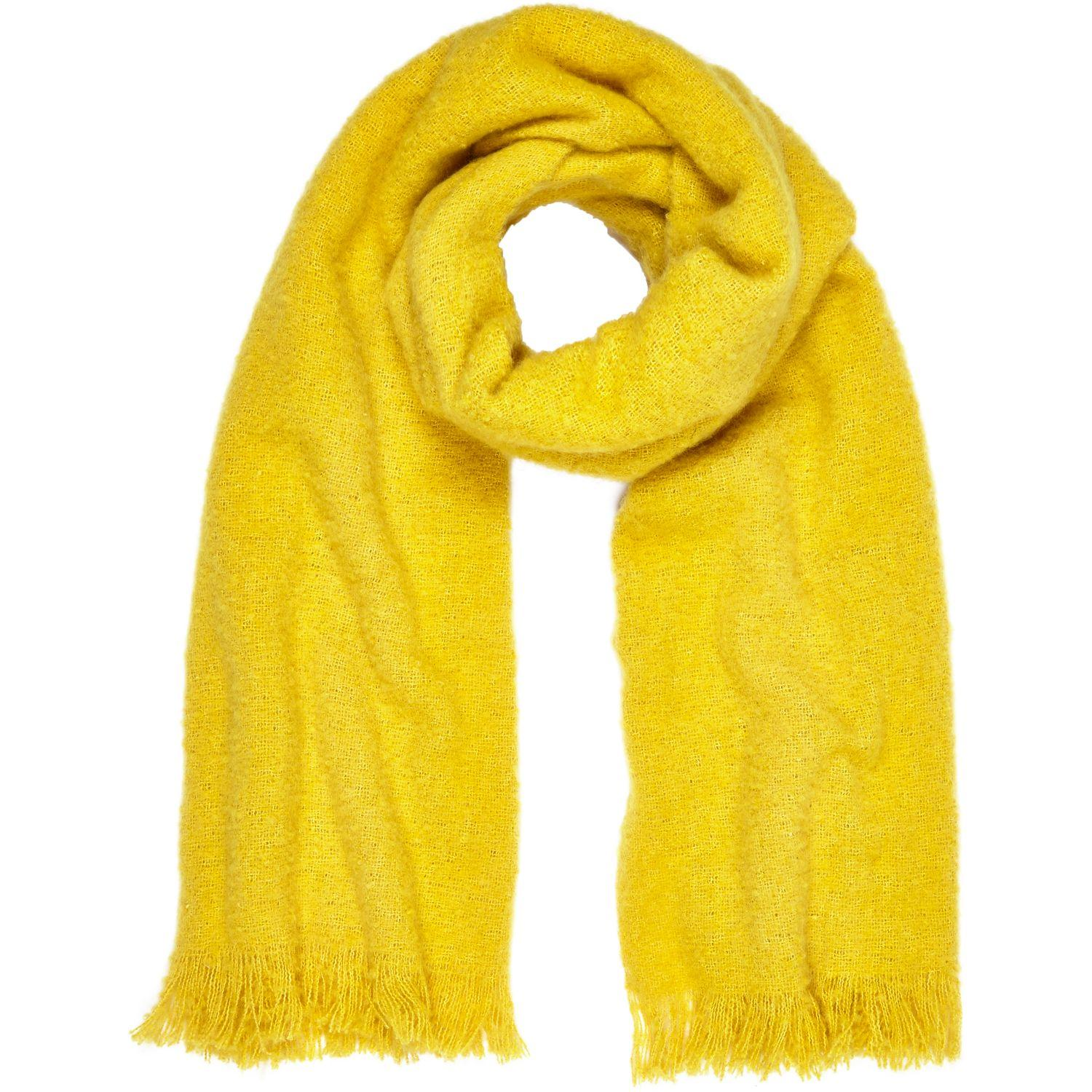 River Island Yellow Super Soft Scarf In Yellow Lyst