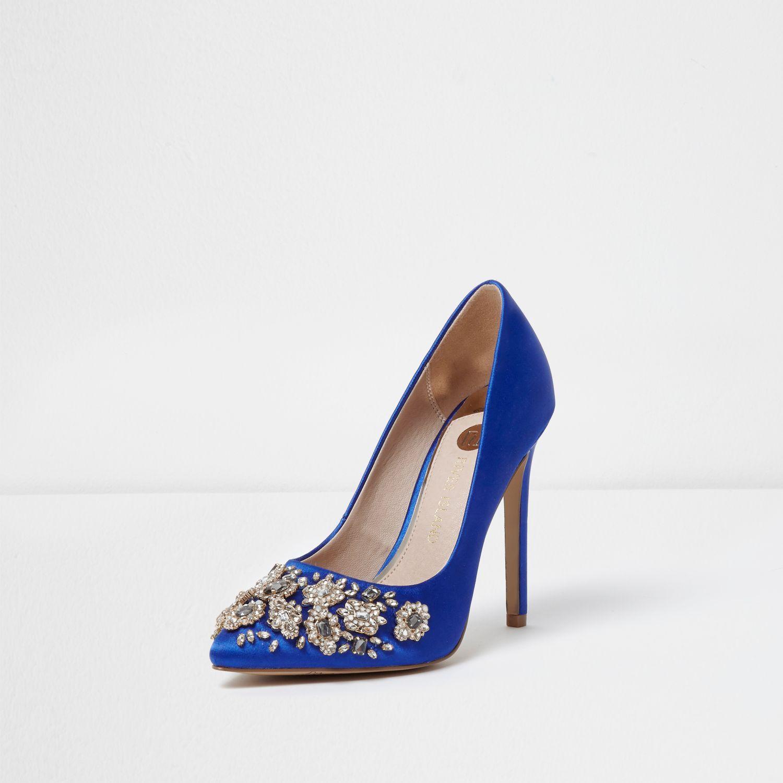 Diamante Shoes River Island Court