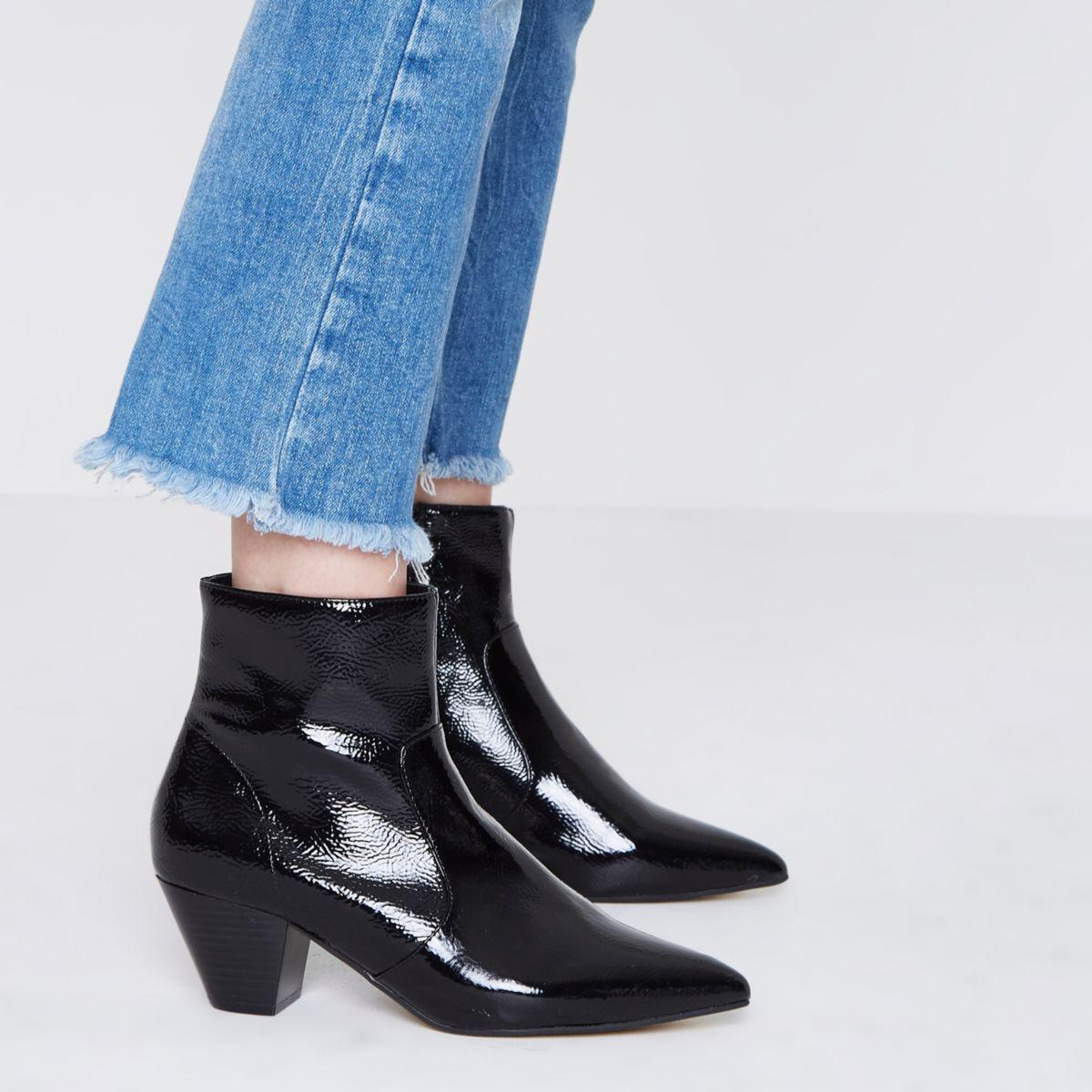 River Island Western Ankle Boots