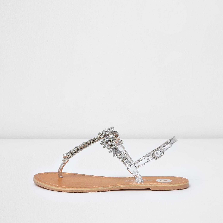 River Island Diamante Sandals
