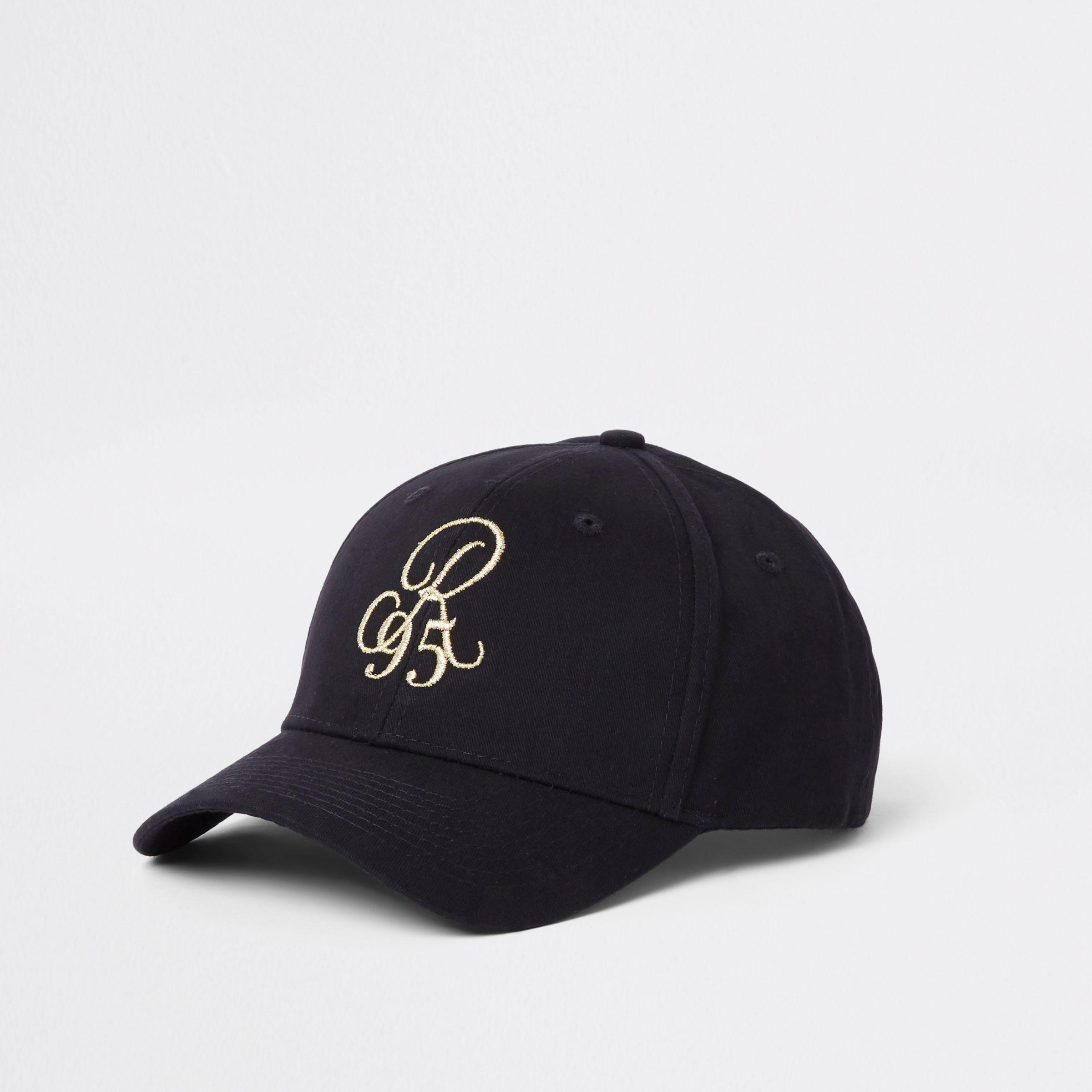 a858eddb60c Lyst - River Island Black  r95  Baseball Cap in Black for Men