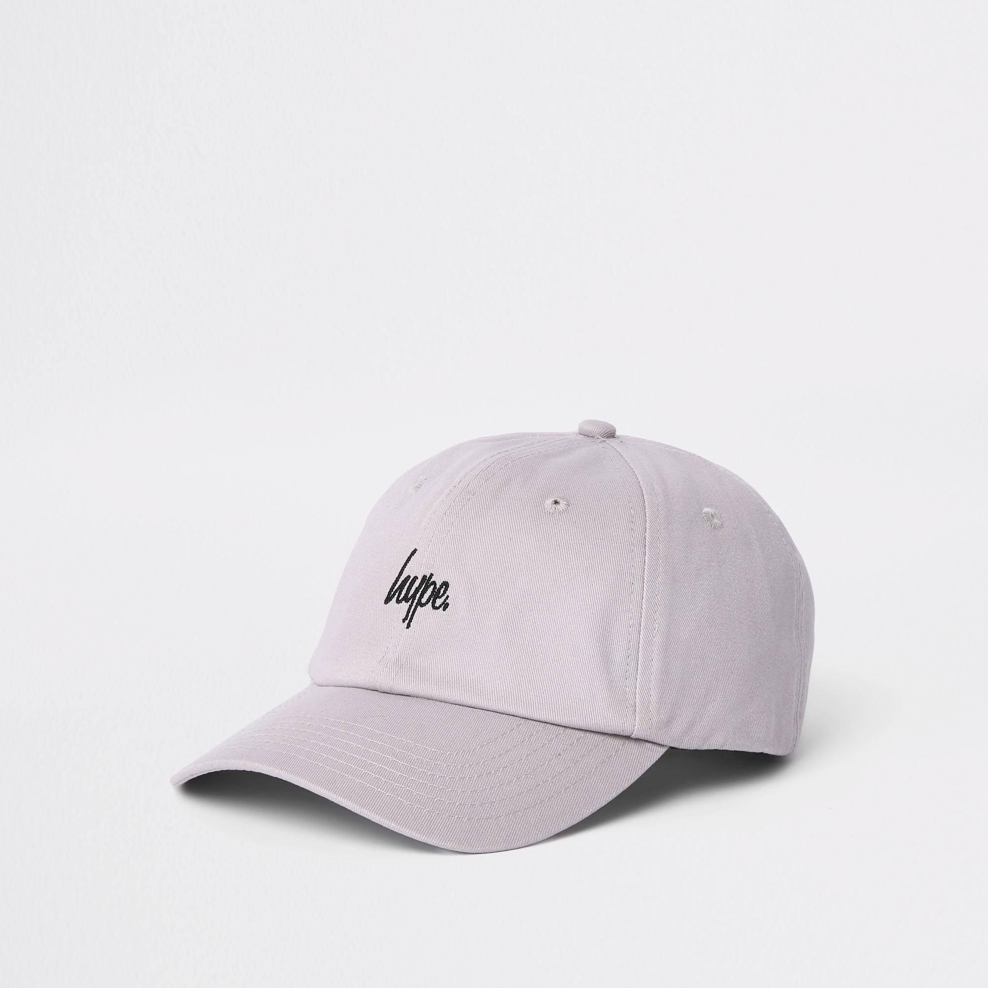 Lyst - Hype Grey Baseball Cap in Gray for Men 68610b34e5