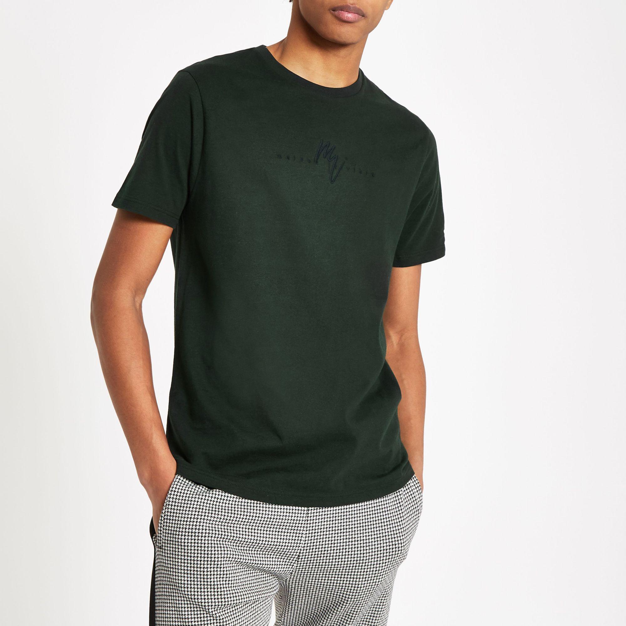 c814af911f21ef Lyst - River Island  maison Riviera  Slim Fit T-shirt in Green for Men