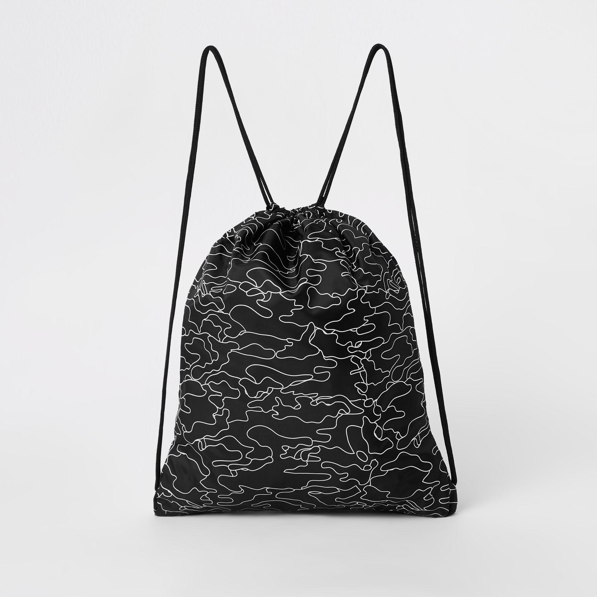 ... Hype Black Logo Print Drawstring Bag for Men - Lyst. View fullscreen e8942fddaa4cd