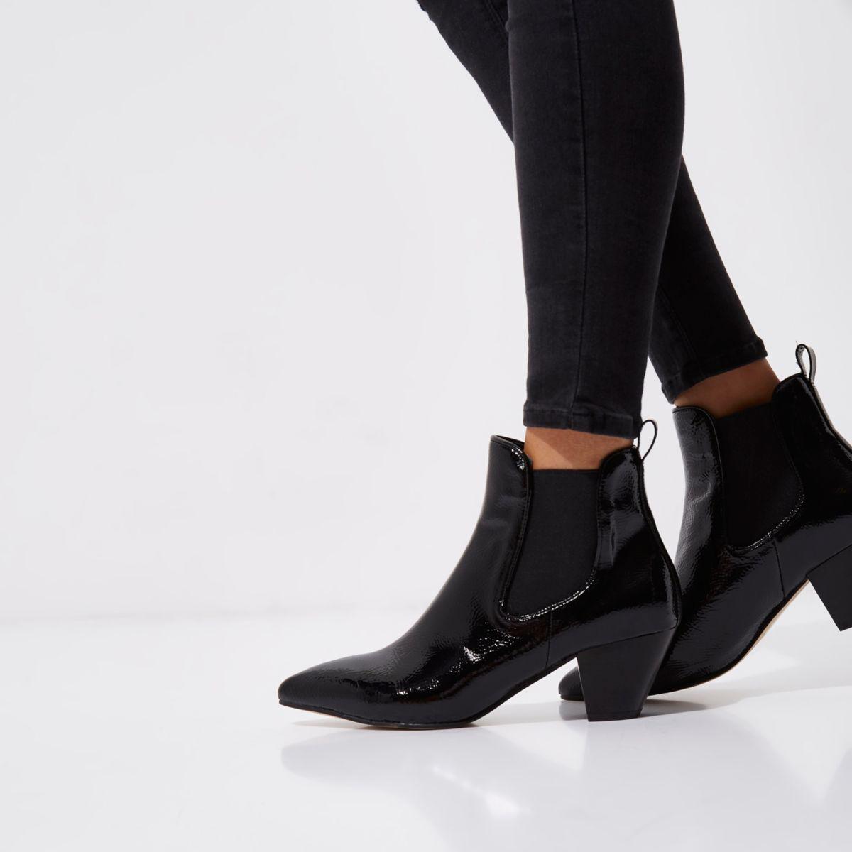 Black Patent Rip Shoes