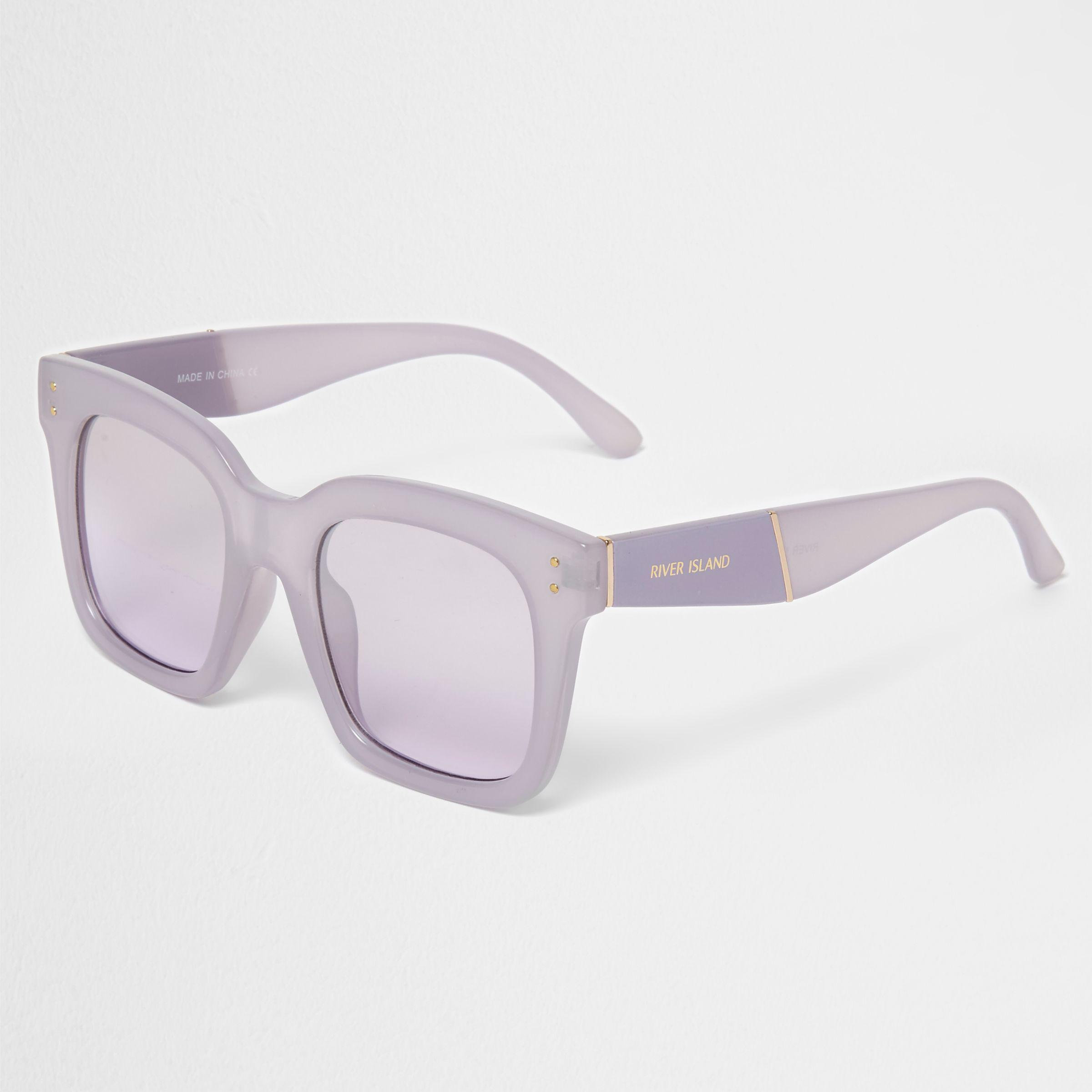218c92bc406ac River Island Lilac Square Frame Oversized Sunglasses in Purple - Lyst
