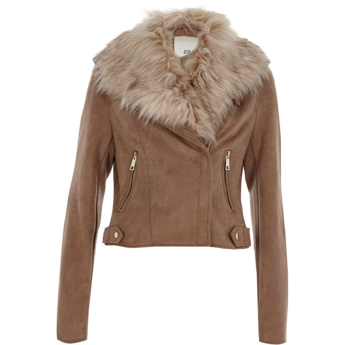River Island Faux Suede Jacket
