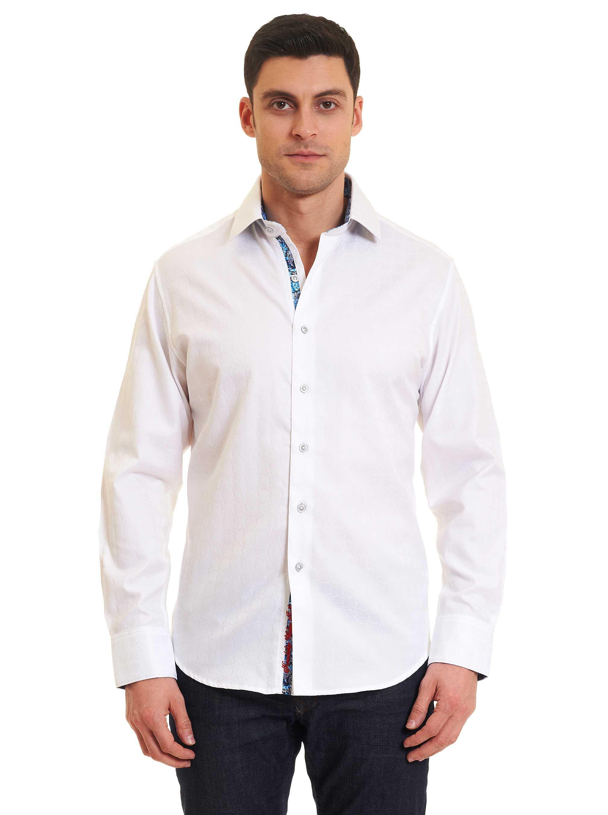 81d1c28cfa2 Lyst - Robert Graham Rialto Sport Shirt Tall in White for Men