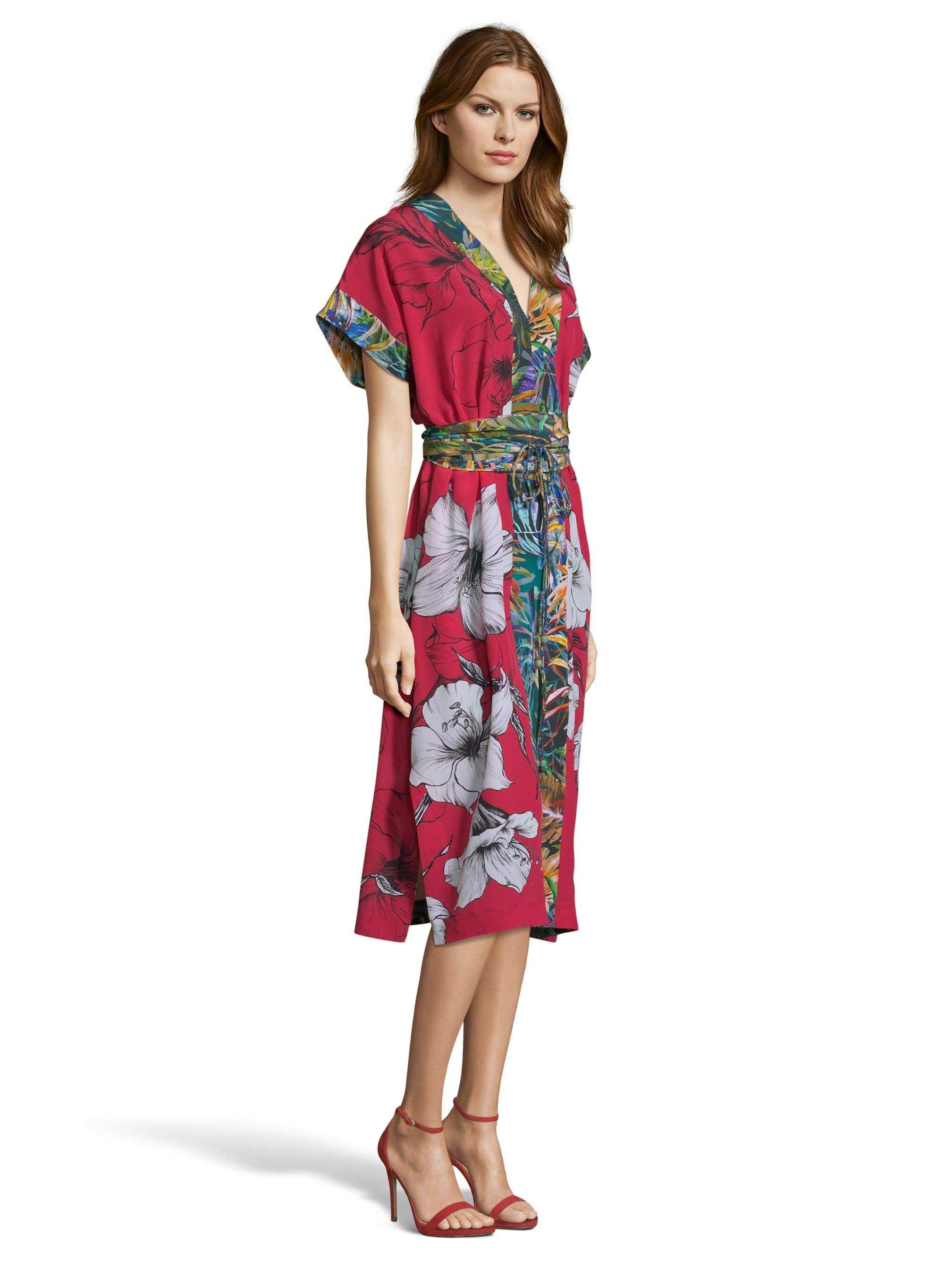 55533d8aeb9 Lyst - Robert Graham Angelica Large Floral Print Silk Dress in Red