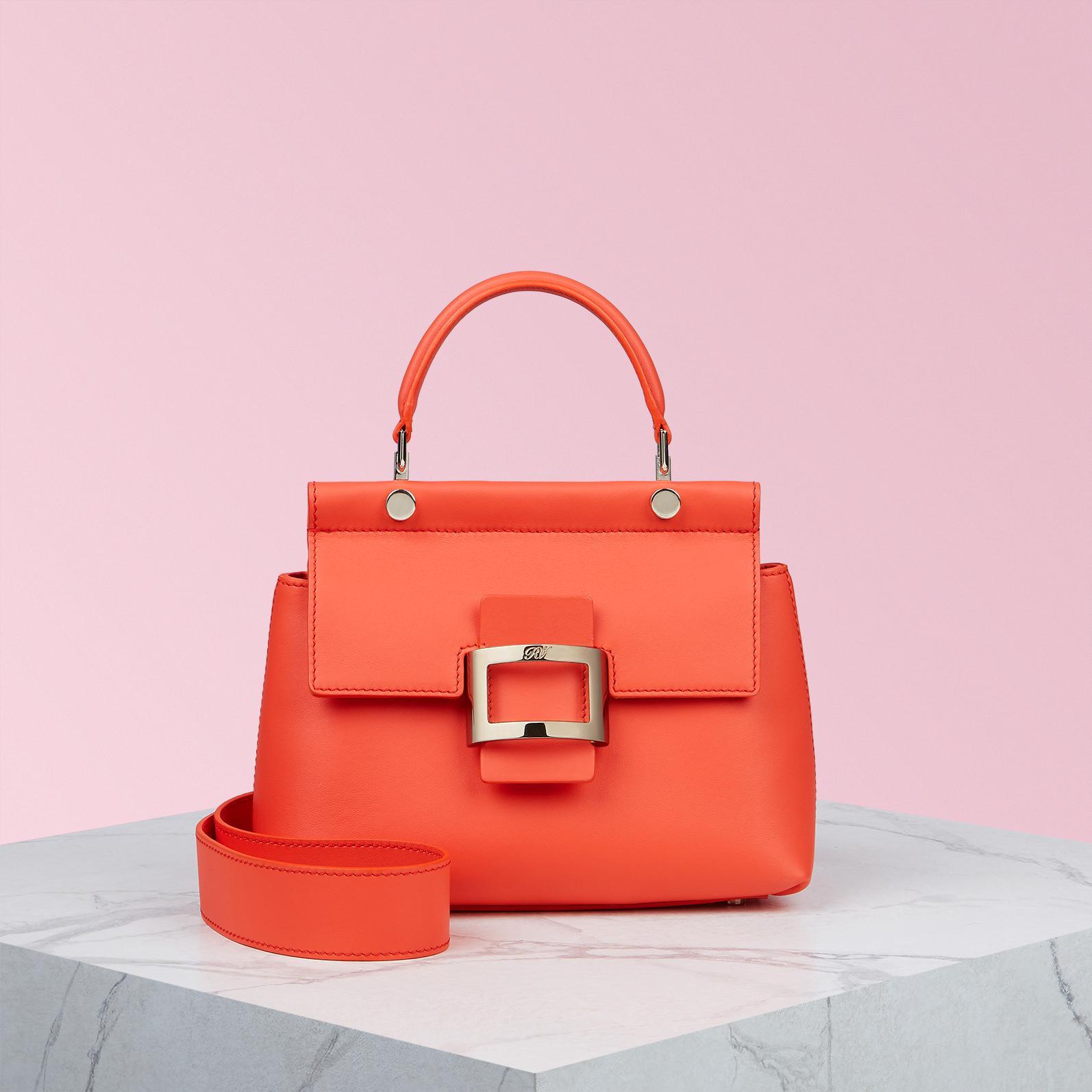 34d1a7841921 Lyst - Roger Vivier Viv  Cabas Mini In Leather in Orange