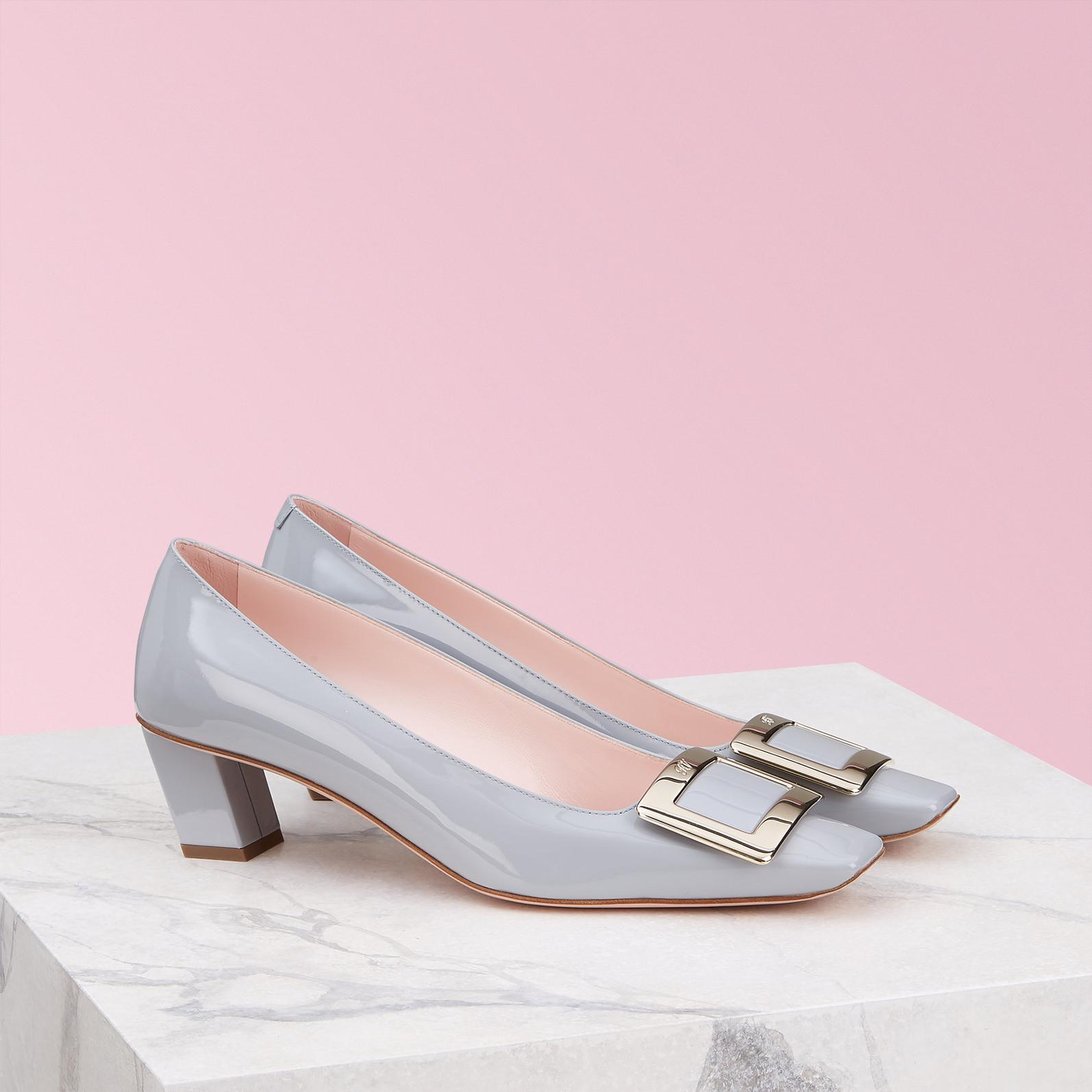 aabaa7aa32c Roger Vivier - Blue Belle Vivier Metal Buckle Pumps - Lyst. View fullscreen