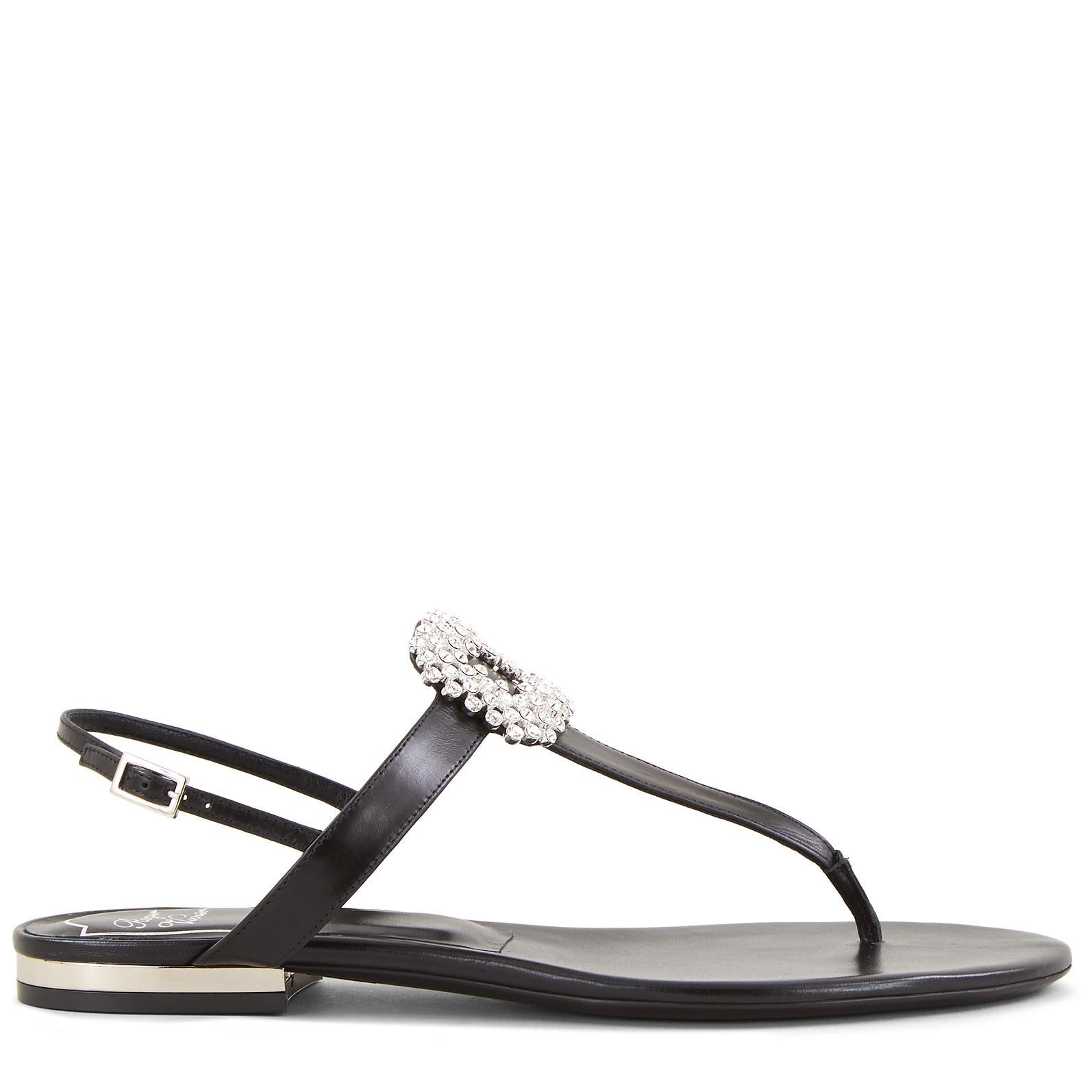 Roger Vivier Mini Diadem Thong Sandals NAYVz49k