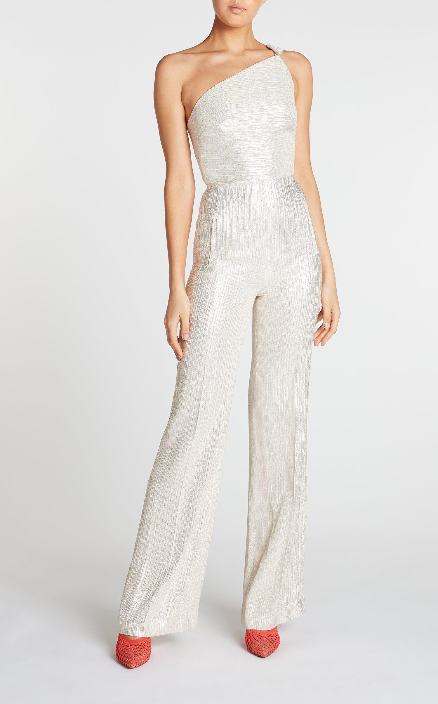 3671a373b05 Roland Mouret Truro Jumpsuit in White - Lyst