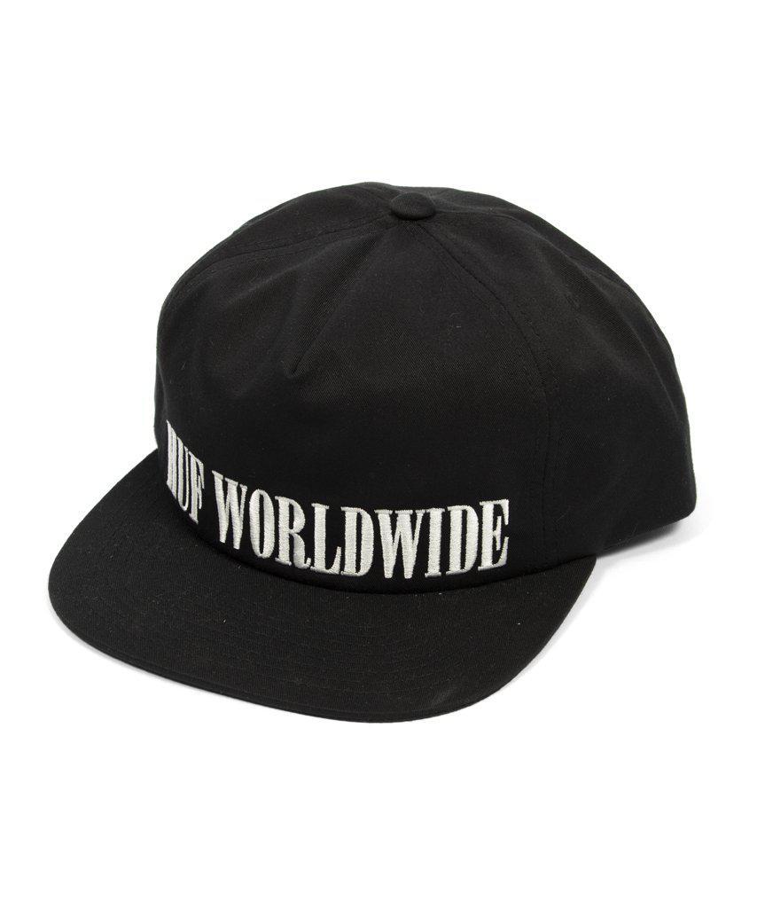 premium selection 8ca8a 232d0 huf corps snapback hat black front ... d3af4d78820c