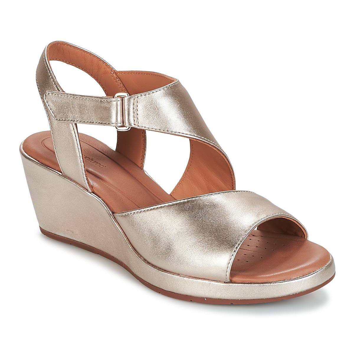 ee030dc2c3 Clarks Un Plaza Sling Women's Sandals In Gold in Metallic - Lyst