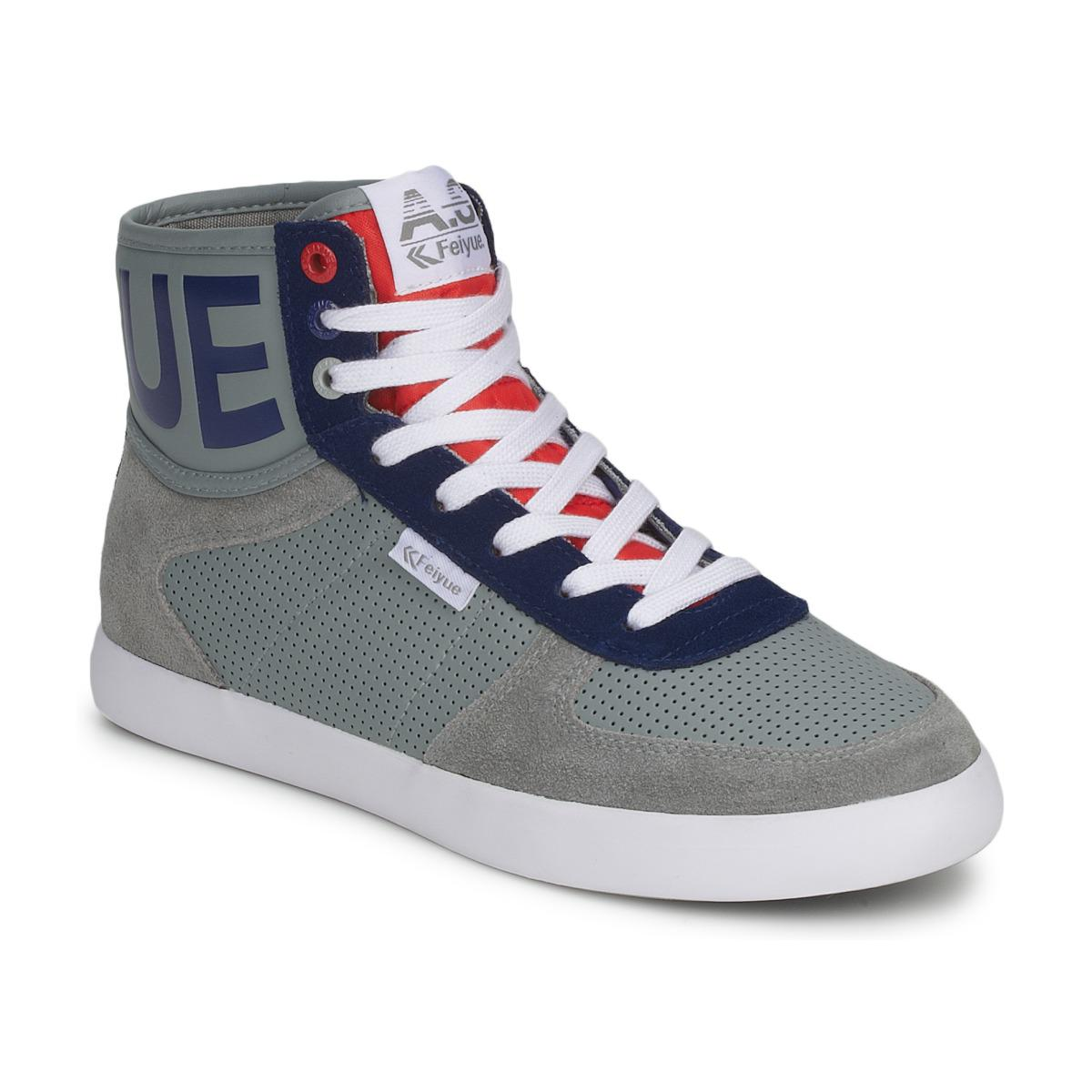 edb0f9ae33a230 Feiyue A.s High Cuir Synthétique Shoes (high-top Trainers) in Gray ...