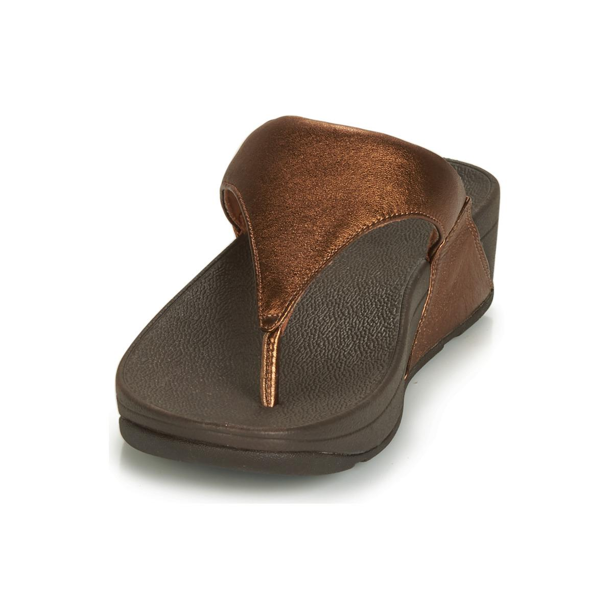 0ec2590cd5ef Fitflop - Brown Lulu Leather Toepost Sandals - Lyst. View fullscreen
