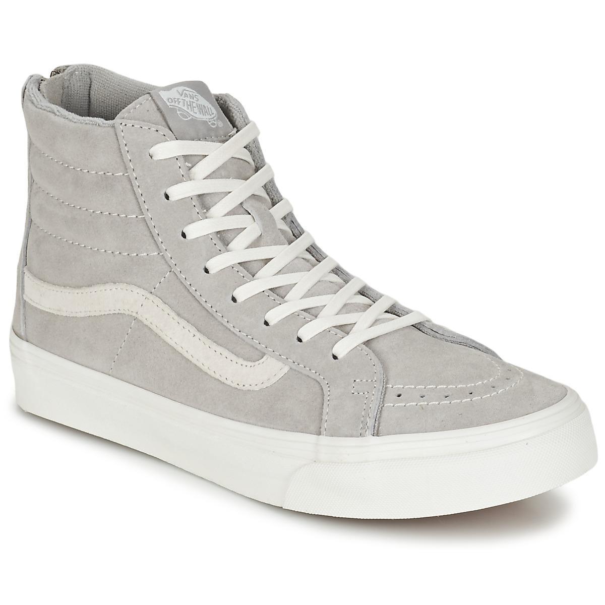 d6cfd71040 Vans Sk8-hi Slim Zip Shoes (high-top Trainers) in Gray - Save ...