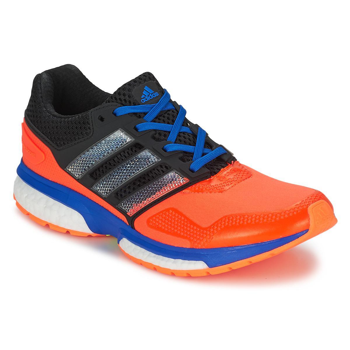 Adidas RESPONSE Boost 2 D corriendo formadores en naranja para hombres salvar