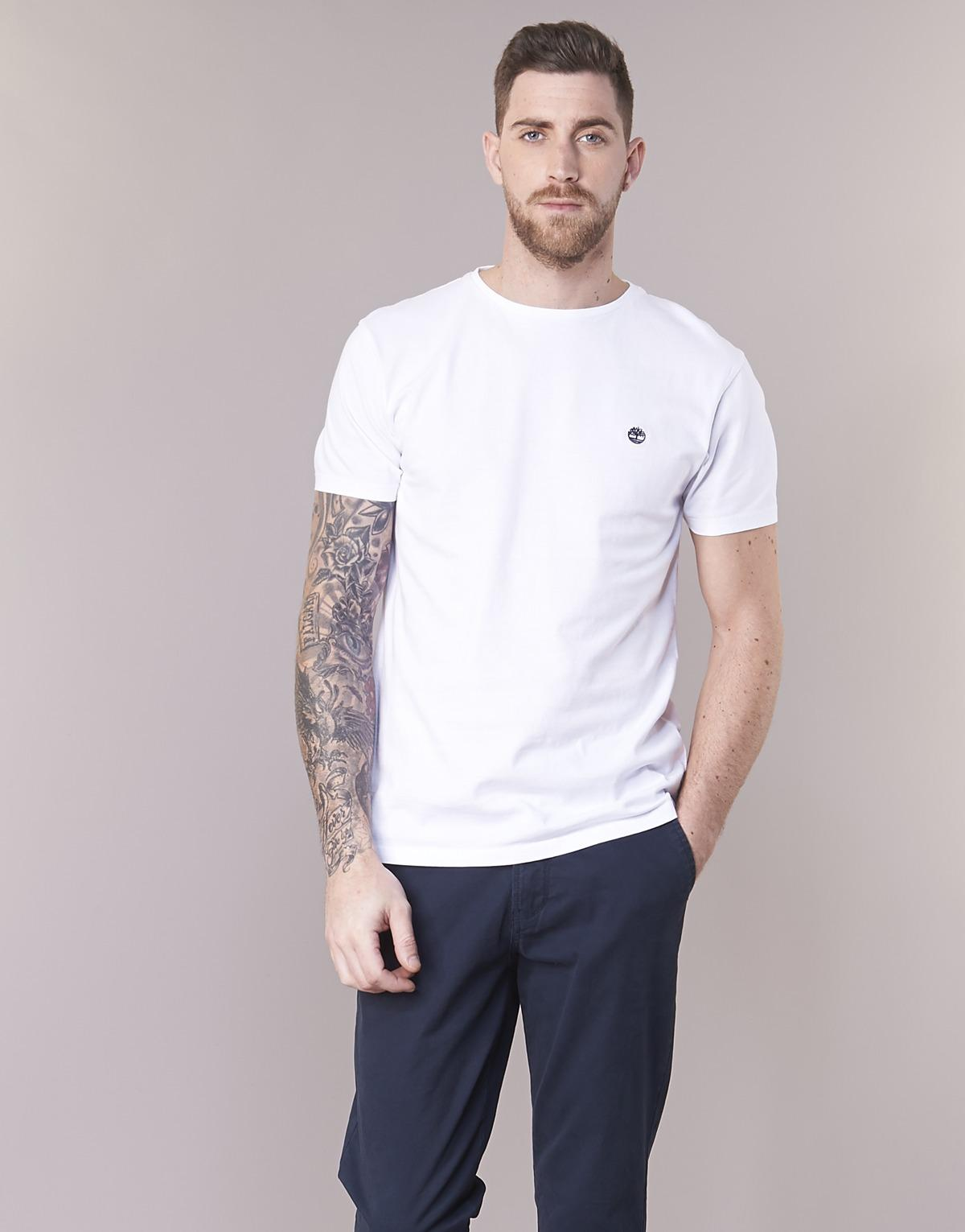 7f98c0db Timberland Ss Dunstan River Crew Tee T Shirt in White for Men - Save 14% -  Lyst