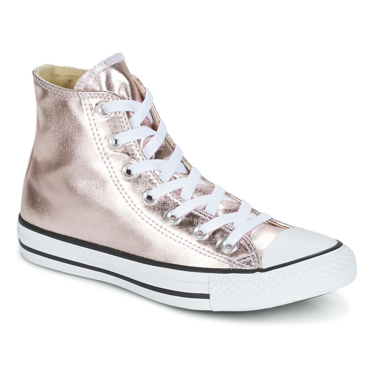 Converse Chuck Taylor All Star Metallic Canvas Hi Rose Quartz white ... c049d1912