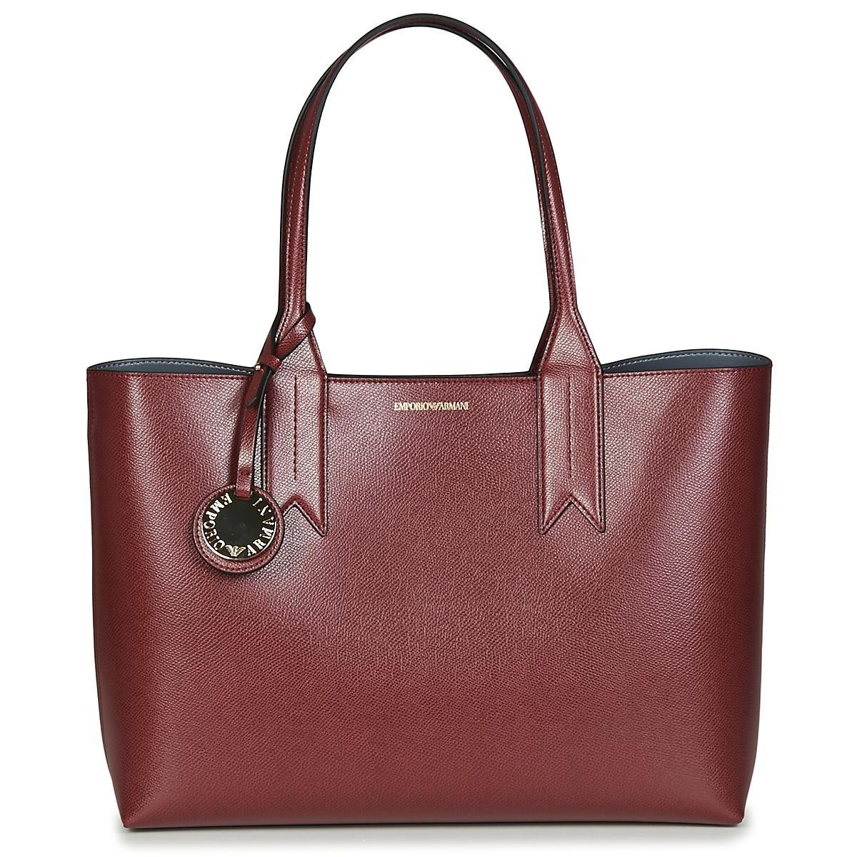 78c6baaf5b70 Emporio Armani Frida Shopping Bag Shoulder Bag in Red - Lyst