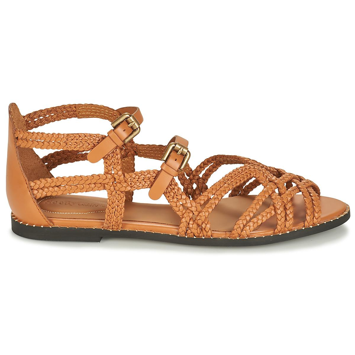 dd88b29b3a0 See By Chloé Braided Strappy Sandals in Brown - Save 14% - Lyst