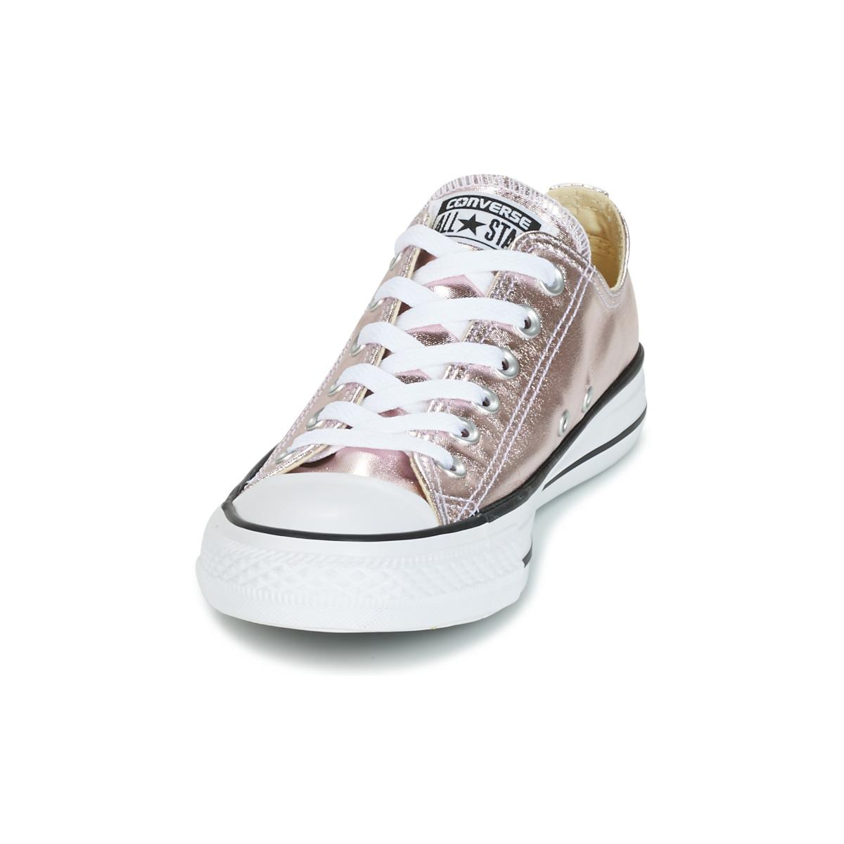 Converse Chuck Taylor All Star Metallic Canvas Ox Rose Quartz white ... 4fd89e7ad