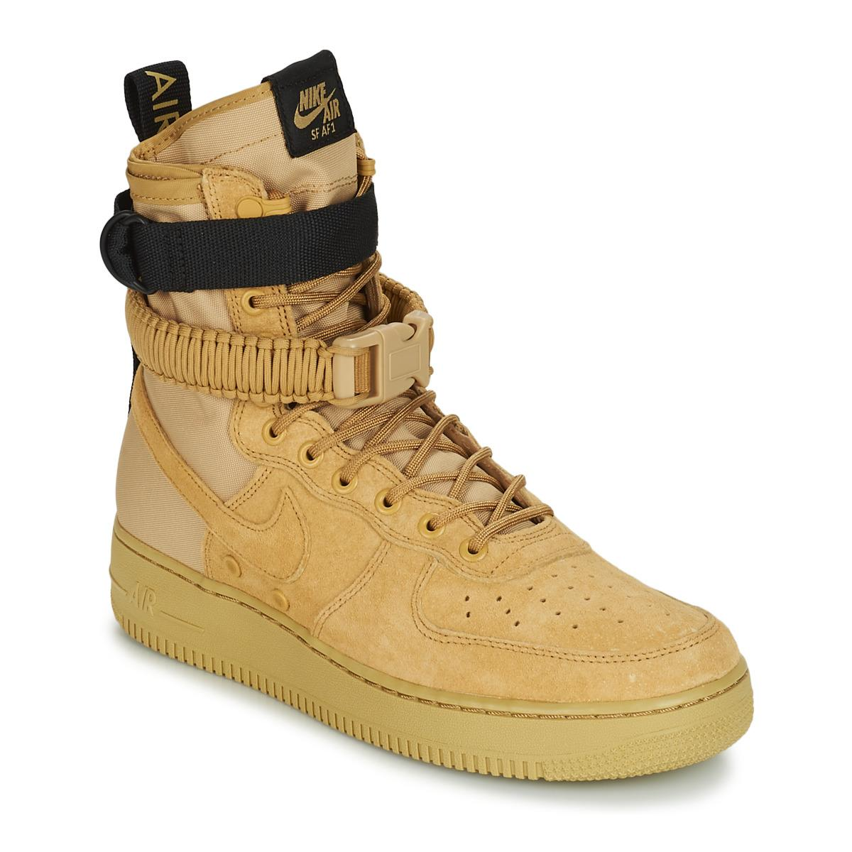 9b5881da9a6e0d Nike Sf Air Force 1 Men s Shoes (high-top Trainers) In Brown in ...