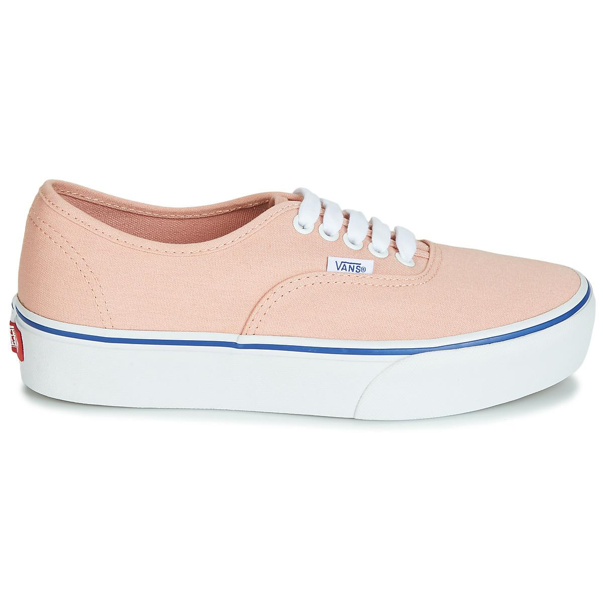 48053e2c02 Vans - Authentic Platform 2.0 Women s Shoes (trainers) In Pink - Lyst. View  fullscreen