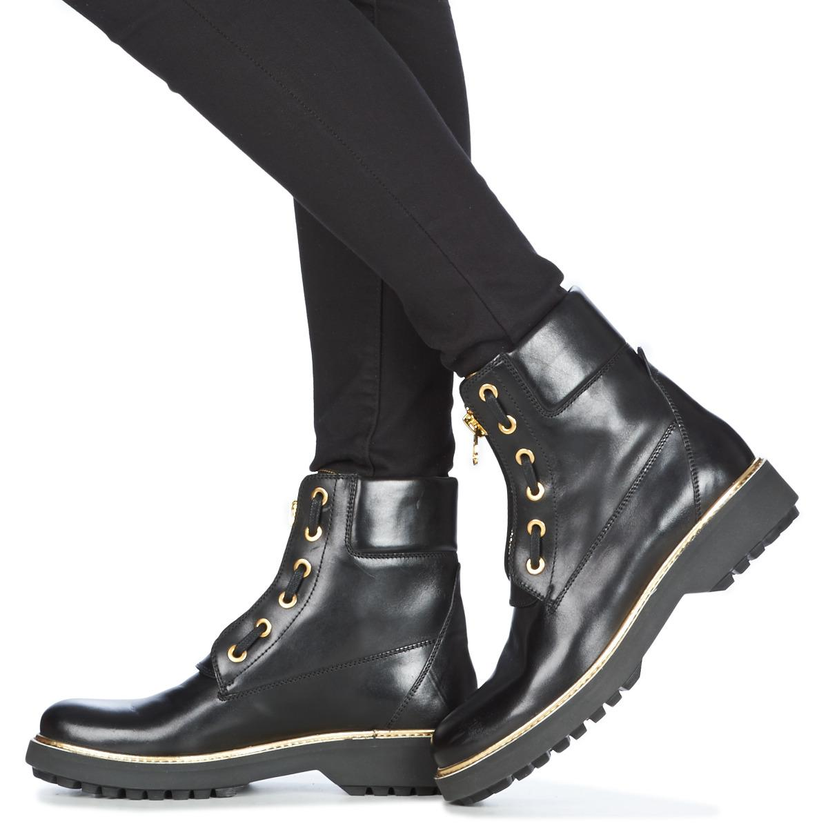 Geox Leather D Asheely Plus Mid Boots in Black Lyst