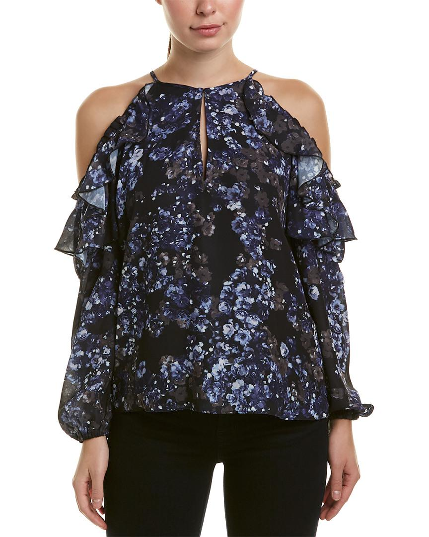 fa2aae662ac74 Lyst - Parker Cold-shoulder Top in Blue