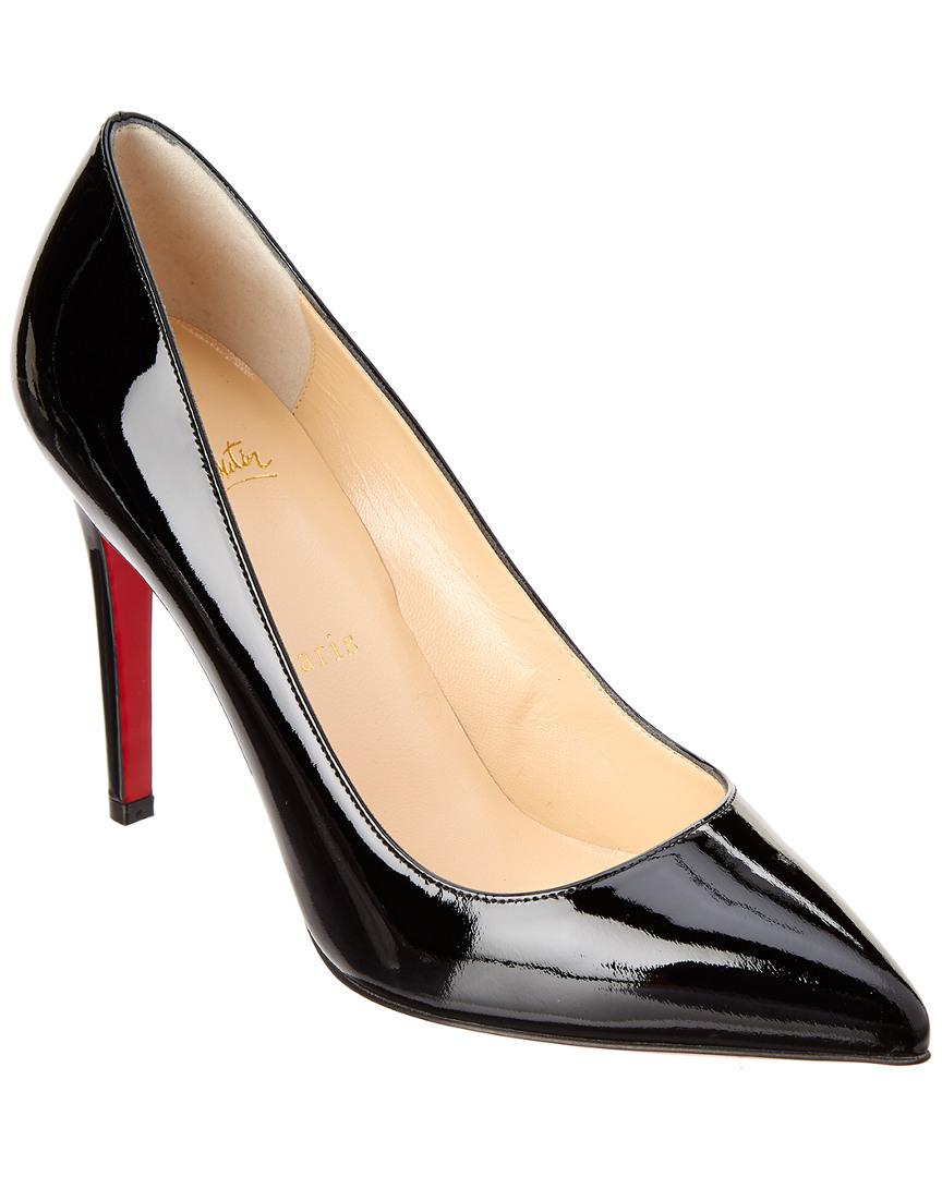 aa2f90eec63 Lyst - Christian Louboutin Pigalle 100 Patent Pump in Black