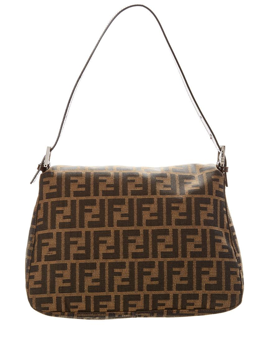 4b356e9232 Lyst - Fendi Brown Zucca Canvas Mamma Bag in Brown