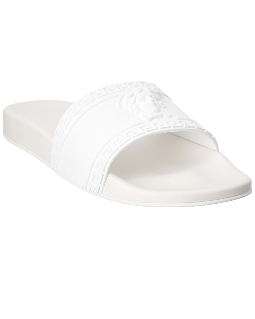 3ab4f5484 Lyst - Versace Palazzo Medusa Pool Slide in White for Men
