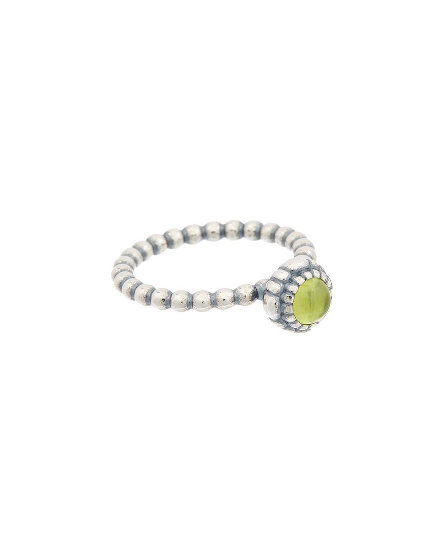 27c017c39 Lyst - PANDORA Silver & Peridot August Birthday Blooms Ring in Metallic