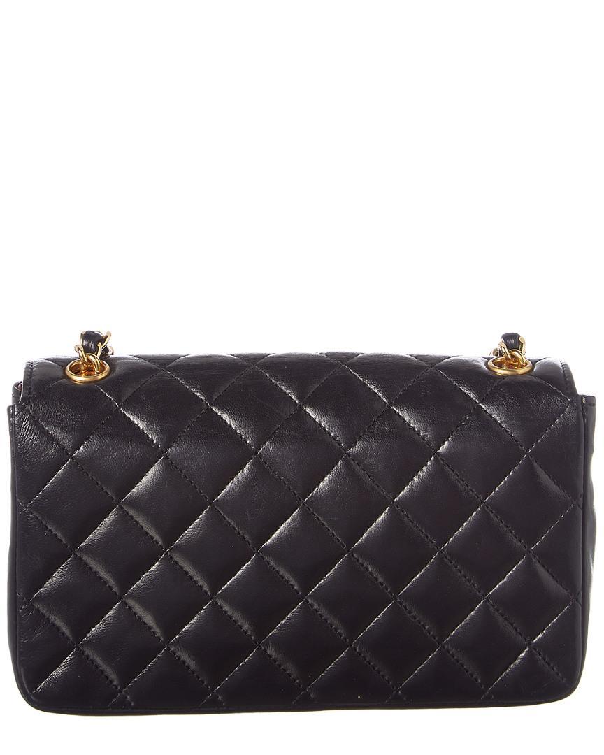 25875b135c7588 Lyst - Chanel Black Lambskin Leather Mini Shoulder Bag in Black