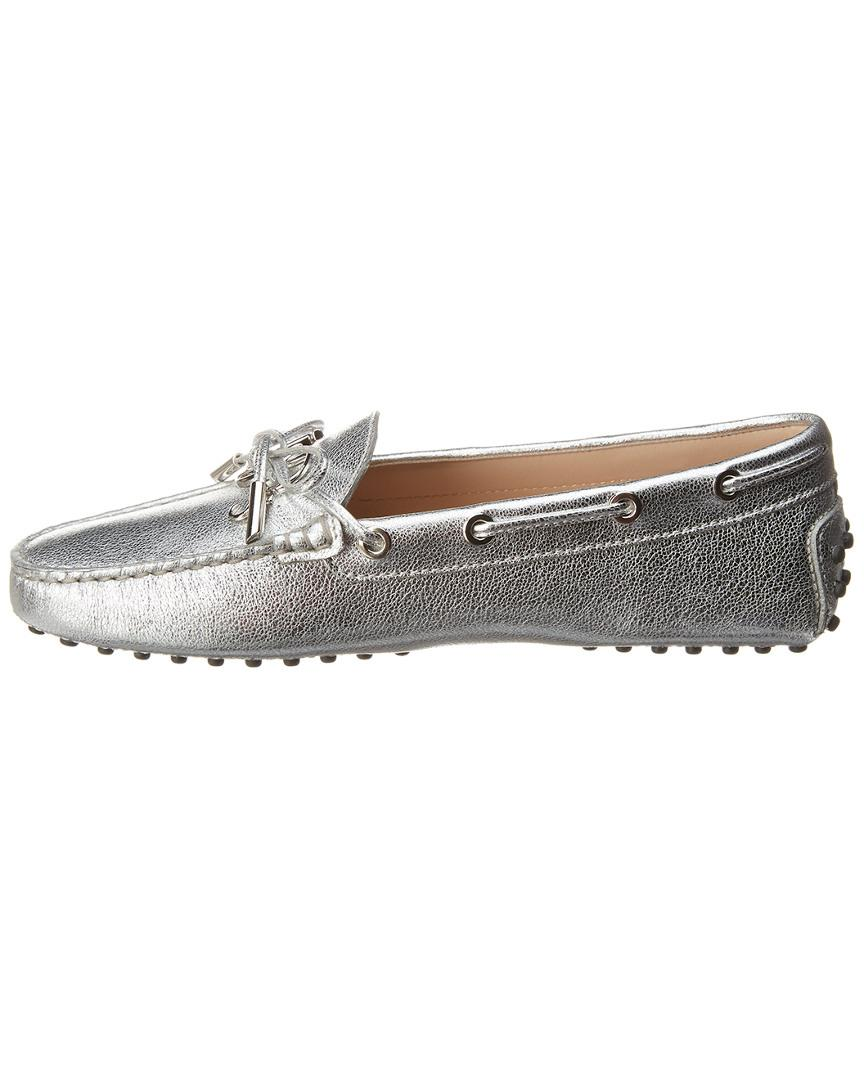 ac0814bd922 Lyst - Tod s Gommino Metallic Leather Loafer in Metallic