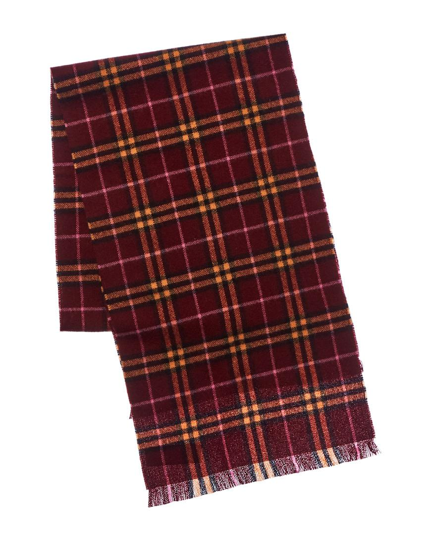 18531cd7a239 Lyst - Burberry Check Cashmere Scarf in Red - Save 0.2857142857142918%