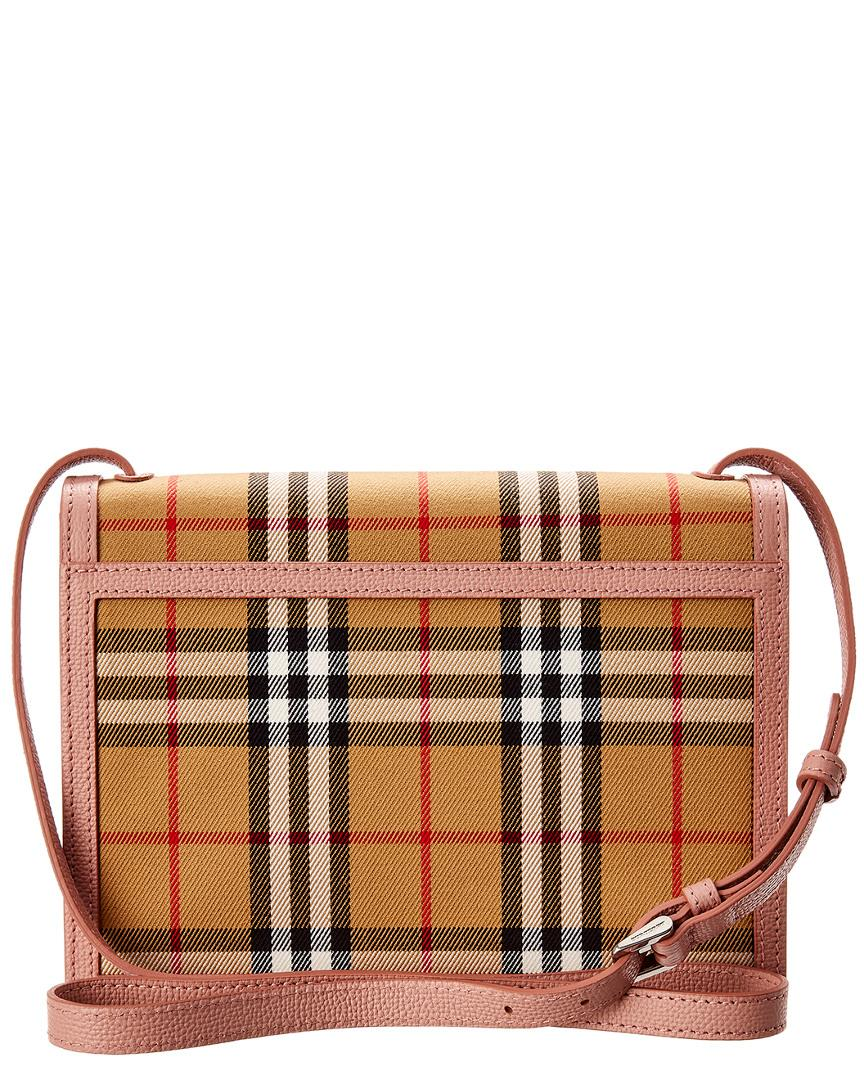 024c5313220d Lyst - Burberry Small Macken Vintage Check Canvas Crossbody in Brown