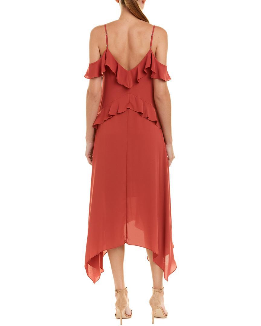 b4689aac11f5 BCBGMAXAZRIA Lissa Midi Dress in Red - Lyst
