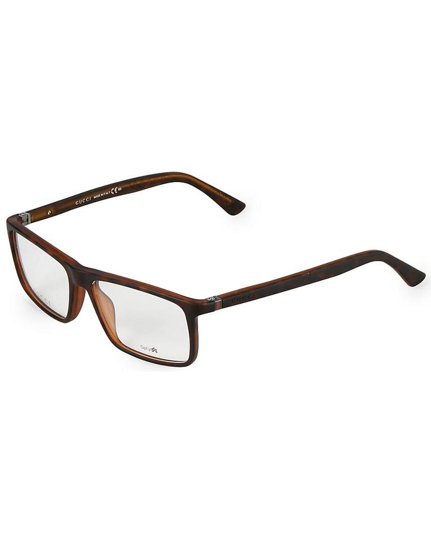 18c95ad045 Gucci - Brown 55mm Square Optical Glasses for Men - Lyst. View fullscreen
